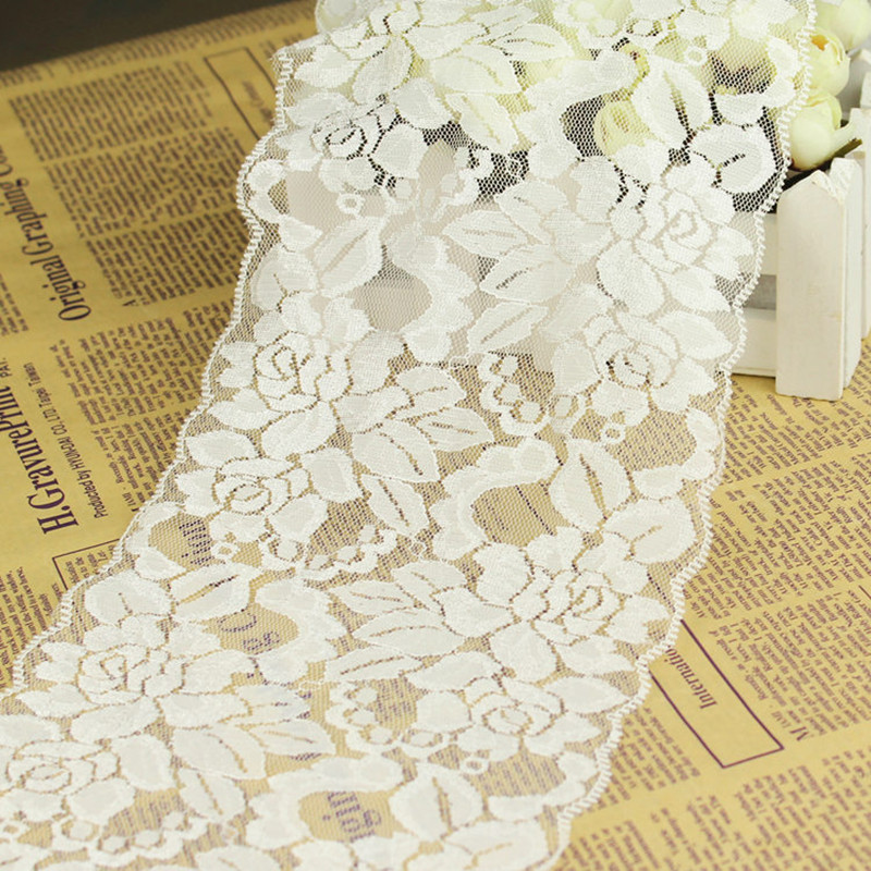 Wholesale(5 meters/lot)Exquisite elastic lace fabric width15.5cm laciness DIY clothes accessories(China (Mainland))