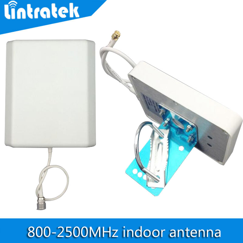 indoor Panel Antenna 800mhz-2500hz GSM 3G 2100mhz Mobile Phone Signal Antenna N Type Connector 8dBi Internal Cellphone Antenna(China (Mainland))