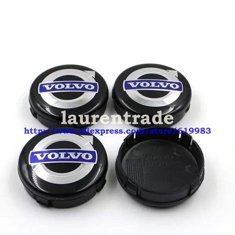 DHL 100pcs 64mm VOLVO  black  gray  wheel center hub cap cover sets Volvo S40 S60 S80L XC60 XC90 Car Volvo Badge Emblems<br><br>Aliexpress
