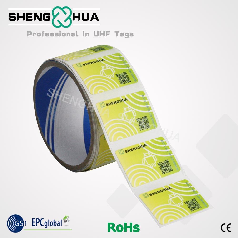 Custom printed 13.56mhz paper hf rfid tags label sticker(China (Mainland))