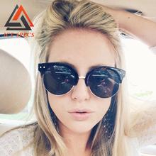 2016 Oval Sunglasses Women UV400 Shades Female Points sun High Quality glasses fashion eyewear mirror Women's Glasses Outdoor