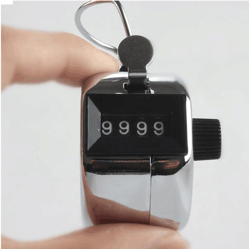 Metal machinery manual counter, four digit person flow counter child educational toys, free shipping(China (Mainland))