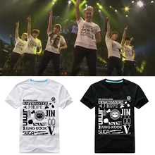 New BTS Bangtan Boys wake up Live In Cencert-Tokyo t shirt Bangtan Boys Jimin Jin Unisex Tshirt Suga Tee loose short sleeves