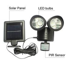 Solar Powered Panel LED Street Light PIR Motion Sensor Lighting Outdoor Waterproof Path Wall Emergency Security Dural Head Lamp