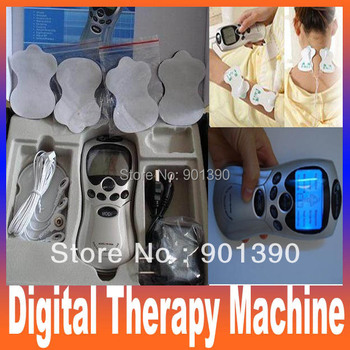 Christmas Good quality Tens Acupuncture Digital Therapy Machine Health care beauty Massager with batteries, retail package.