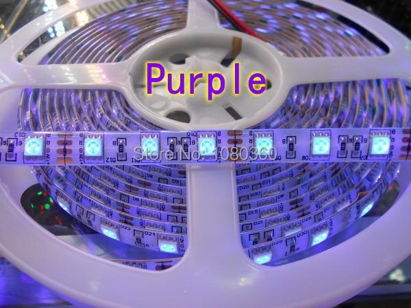 NEW 5M 16.4ft  UV Ultraviolet 395nm led strip 5050 SMD Purple 300 LED flexible Tape ribbon Light 12V  free shipping<br><br>Aliexpress