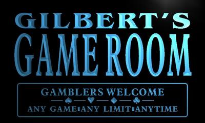 x0198-tm Gilbert's Poker Game Room Custom Personalized Name Neon Sign Wholesale Dropshipping(China (Mainland))