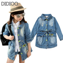 Children clothing denim coat for girls jackets autumn & spring outwear kids clothes baby girl top outfits 2 4 6 7 8 10 years old(China (Mainland))