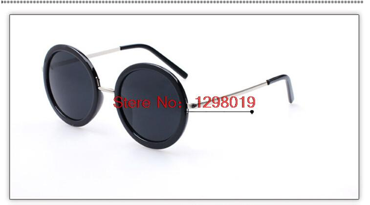 New Fashion Vintage Sunglasses Retro Cat Eye Semi-Rim Round