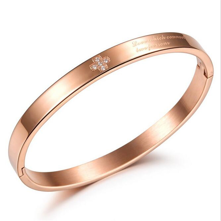 Steel Bangle IP Rose Gold Plating Jewelry Fashion Stainless Steel Bangle For Man Never Fade Do Not Change Colors AL1007(China (Mainland))