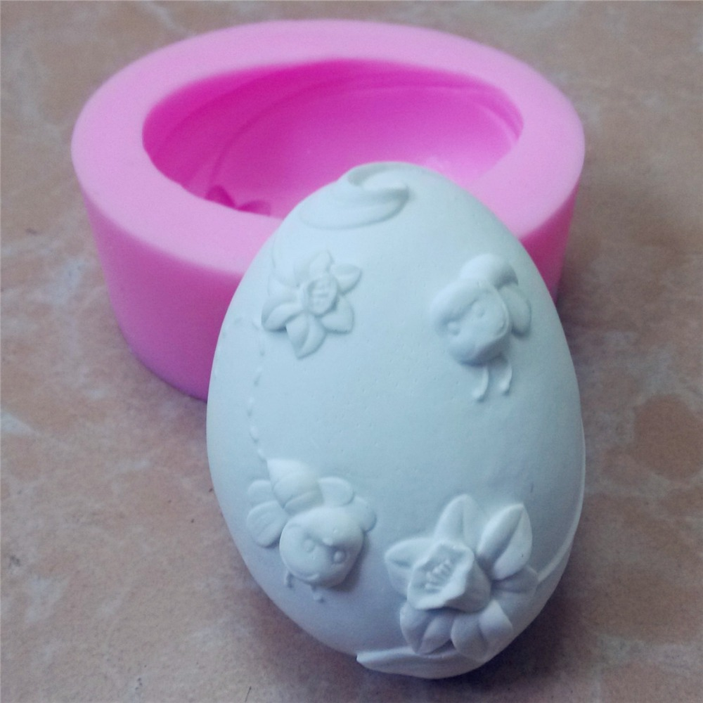 egg shape silicone soap mold 3D silicone mold candle molds decorating cake mold(China (Mainland))