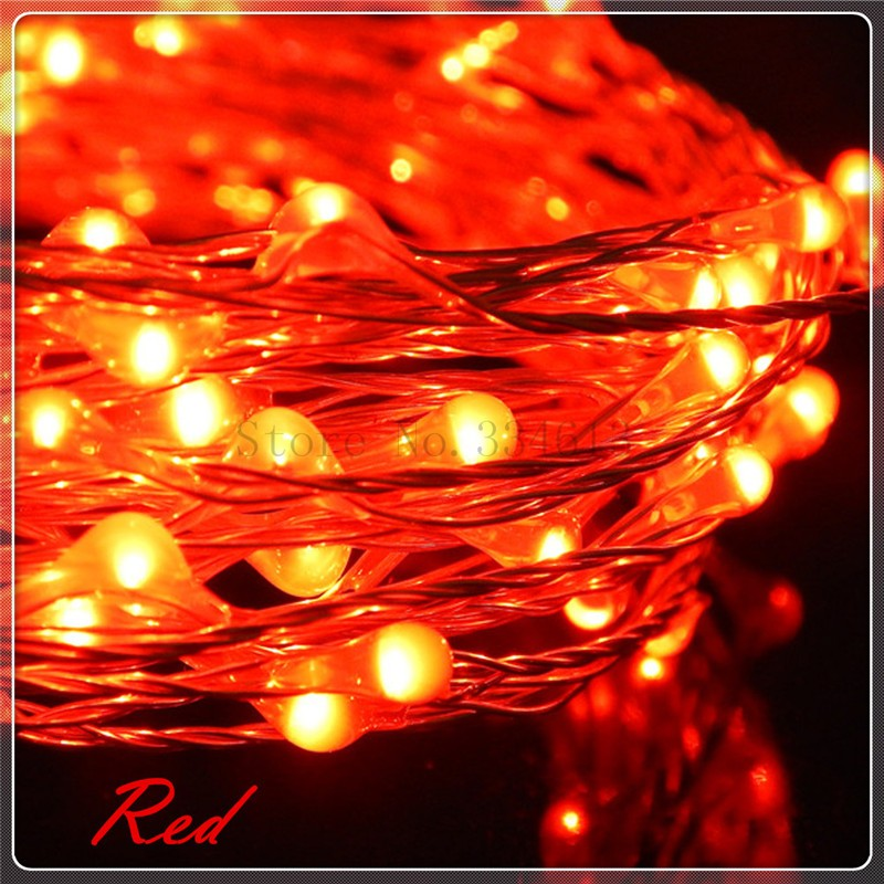 Battery Remote Control 12M Warm White LED String Lights Holiday Silver Lights eBay