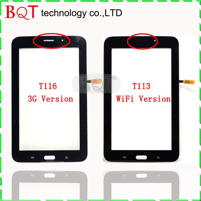 "Guarantee High Quality T116 Touch Screen For Samsung Galaxy Tab 3 Lite 7.0"" T113 Touch Screen Glass Panel Free shipping(China (Mainland))"