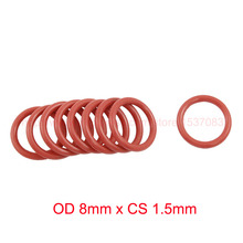 Buy OD 8mm x CS 1.5mm VMQ PVMQ SILICONE O ring O-ring Oring Seal Round Gasket Rubber Washer for $10.79 in AliExpress store