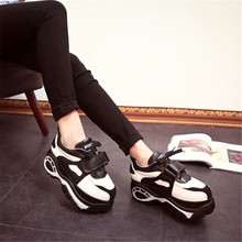women shoes zapatos mujer wedge sneakers height increasing sport shoes woman 2015 huarache sneakers shoes for