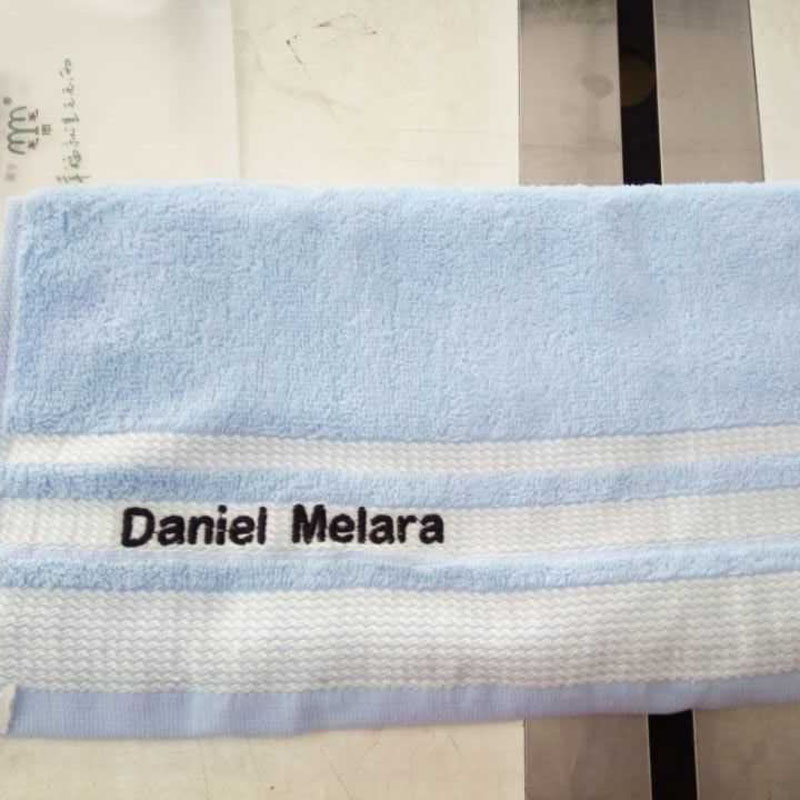 New 2016 Personalized Customized Hand Towel -- 100% Cotton Embroidery Towel Colorful Customized Towel for Friends Family 34*75cm(China (Mainland))