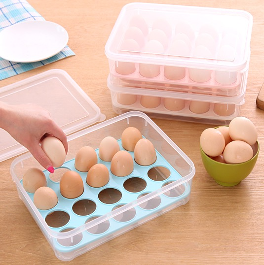 20 Eggs Storage Box Kitchen Refrigerator Egg Storage Boxes Egg Tray Portable Cell Modern Boxes(China (Mainland))