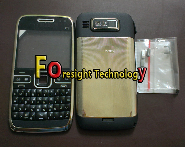 Free shipping+15pcs/lot New e72 housing case replace cover repair faceplates for Nokia E72 mobile phone(China (Mainland))