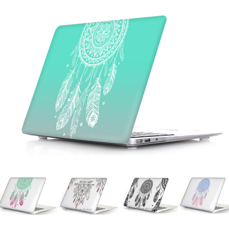 2016 Colorful Nice Fashion Color Print Cover Sleeve Case For Apple Macbook Pro Retina 13 12 15 Air 13 11 Dream Catcher Pattern(China (Mainland))