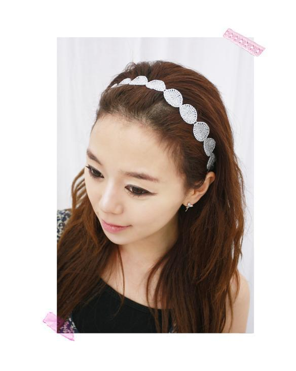 Lovely gold discs crochet headband, Elastic HeadBand, Headwear Accessories Women HeadBands (Free shipping over $ 8)(China (Mainland))