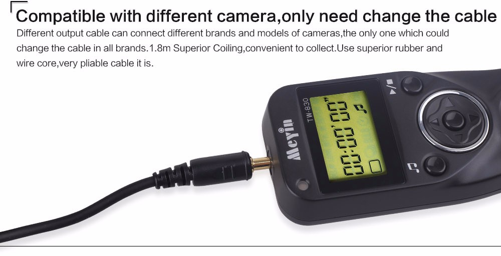 image for   Meyin TW-830/DC2 TW830 Shoot Timer Remote Control Shutter Release Ca