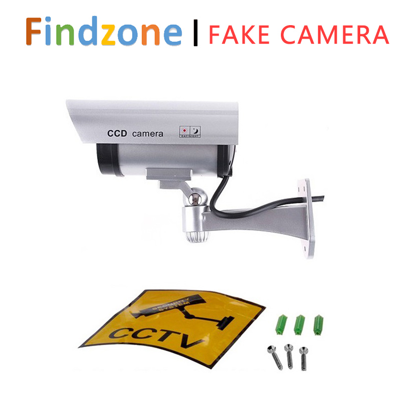 LED Light Fake Camera Outdoor Dummy Camera For Home Security Monitor Dummy CCTV Surveillance camera Accessories(China (Mainland))