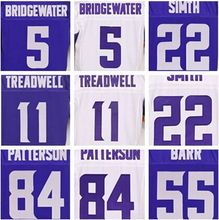 Laquon new Treadwell Teddy to Bridgewater Harrison white Smith Adrian elite Peterson Stefon daft Diggs Anthony elite Barr jersey(China (Mainland))