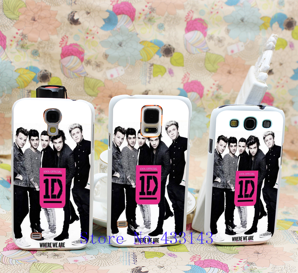Music Band one direction where we are book TD-274 Style Clear Skin Back Cover Case for Galaxy S5 S4 S3 I9600 I9500 I9300(China (Mainland))