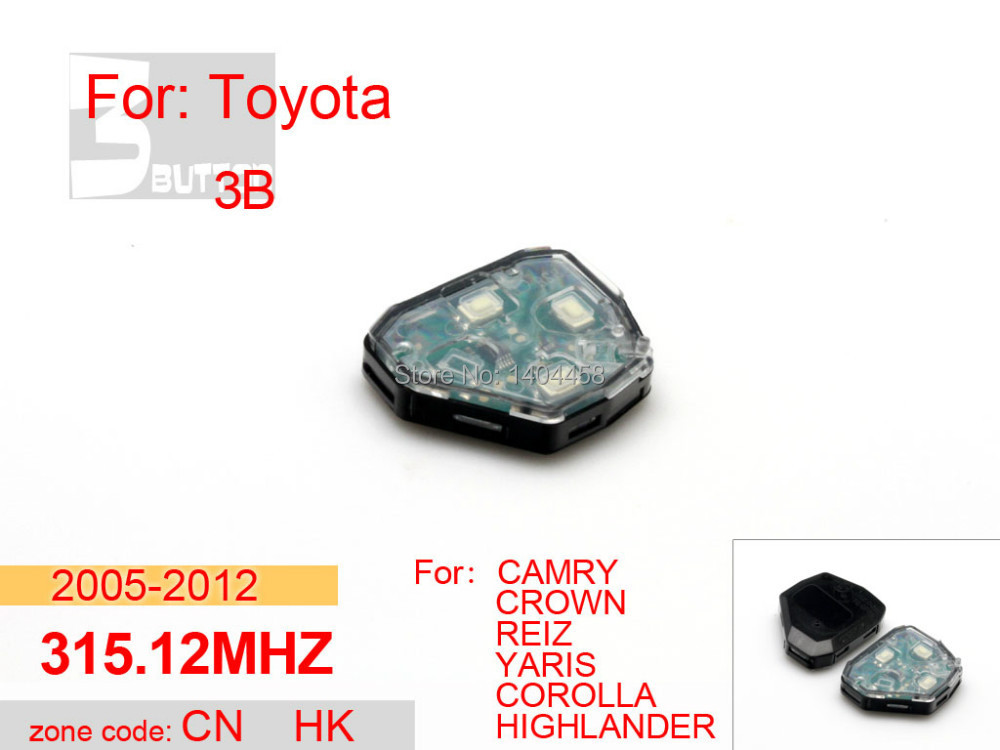 High Quality,toyota camry key replacement,transponder car key remote 315.12MHZ 3B for Toyota,car alarm system,free shipping(China (Mainland))