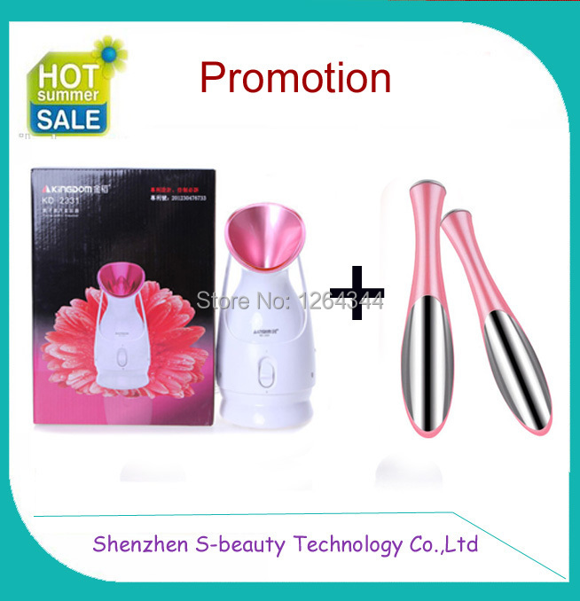Free shipping ! Christmas gift mini facial steamer vaporizer with ozone( give eye vibrating massager roller as gift)<br><br>Aliexpress