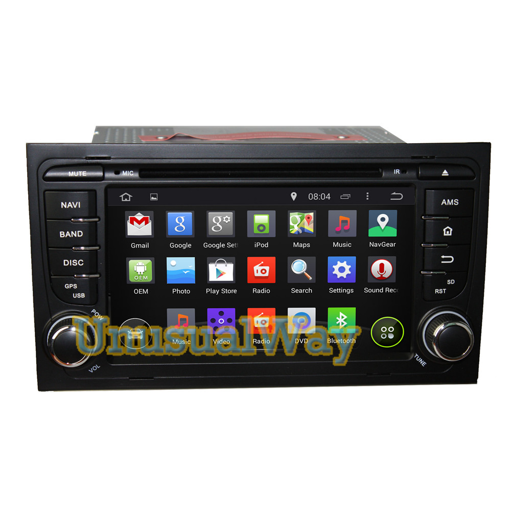 2015 Android 7 inch double 2 din 4.4.4 Car DVD GPS Navigation stereo system Special for Audi A4 (2003-2011) with Quad Core 16G(China (Mainland))