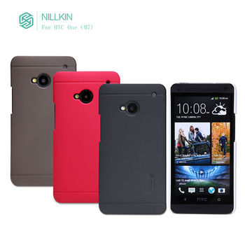 original Nillkin brand Super frosted Shield Shell Hard Case Cover shell Back + Screen Protector For HTC One M7