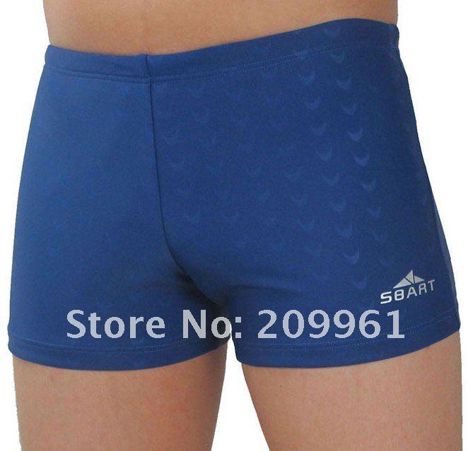 SBART 2 color high quality professional shark skin sharkskin swimwear men's short swimming wear trunks wholesale free shipping