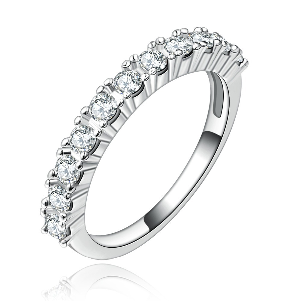 925 silver filled jewelry for women fashion wedding rings woman wedding ring 925 silver CZ diamond round New arrived R144(China (Mainland))