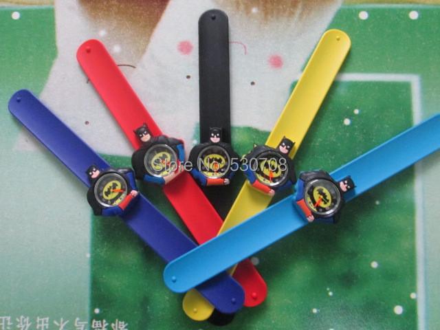 Wholesale 30 Pcs KIDS SLAP ON WATCH BATMAN SLAP QUARTZ WRIST WATCH GIFT(China (Mainland))