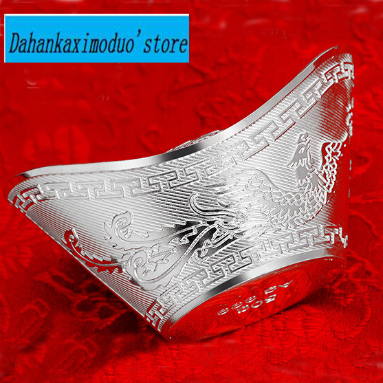 20g Sterling silver ingots thousands of fine silver sterling silver hollow block gift choice COINS with box and certificate(China (Mainland))