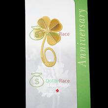 Dollarace   Mini  Reading Four-leaf Clover 18K Gold Metal Clip Bookmark Label Book Mark(China (Mainland))