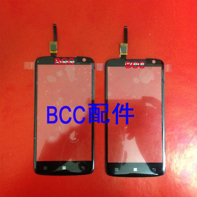 Тестирование мобильный телефон с сенсорной панелью для lenovo s820 сенсорный экран панели планшета переднее стекло черный + корабль отслеживания