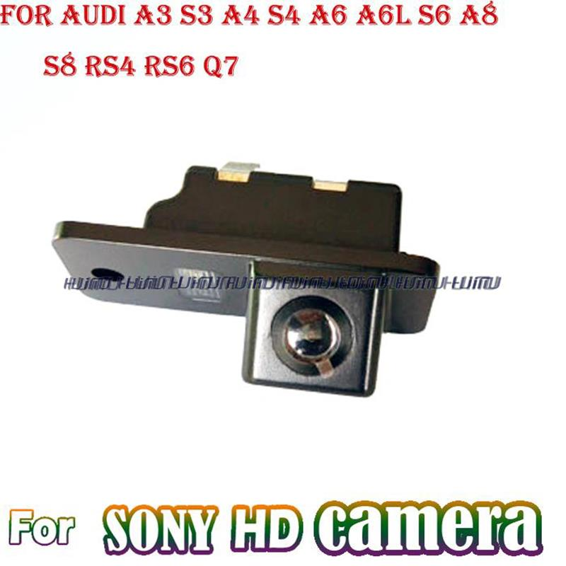 for SONY CCD HD wireless wire car rear camera parking assist monitor wide angle for AUDI A3 S3 A4 S4 A6 A6L S6 A8 S8 RS4 RS6 Q7(China (Mainland))