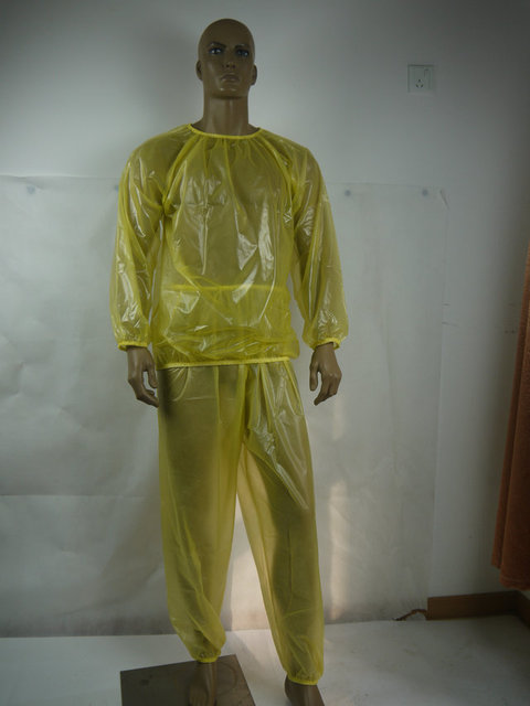 Пвх мужской недержание спортивный костюм # P013-4T