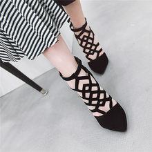 Odetina/пикантные женские летние ботильоны на высоком каблуке в римском стиле Модные женские модельные туфли с острым носком на молнии сзади с...(China)
