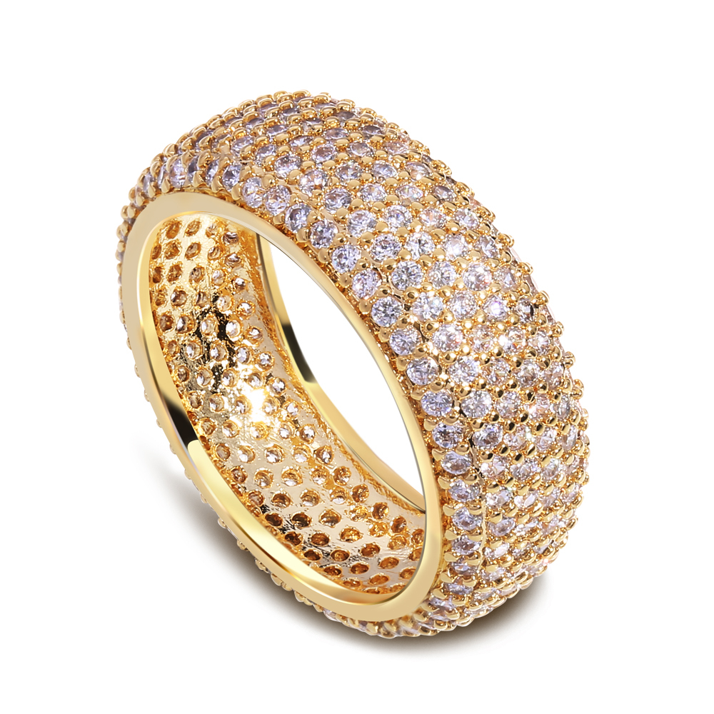 New Arrive Women Round Classic Engagement Brass Rings 695 Pcs AAA Quality Cubic Zirconia Setting Gold Plated Lead Free L&amp;Y10912<br><br>Aliexpress