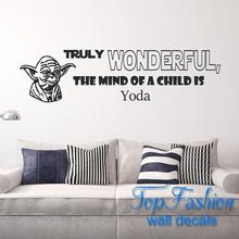 Star Wars Quote Wall Decals Truly Wanderful Sayings Decor Vinyl Wall Sticker Murals Boy's Rooms In Suit Modern Decor Sticker