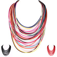viviLady Statement Multi Layer Rope Necklace Women Magnet Fashion Collar Chain Jewelry Party Accessory BFWS(China (Mainland))