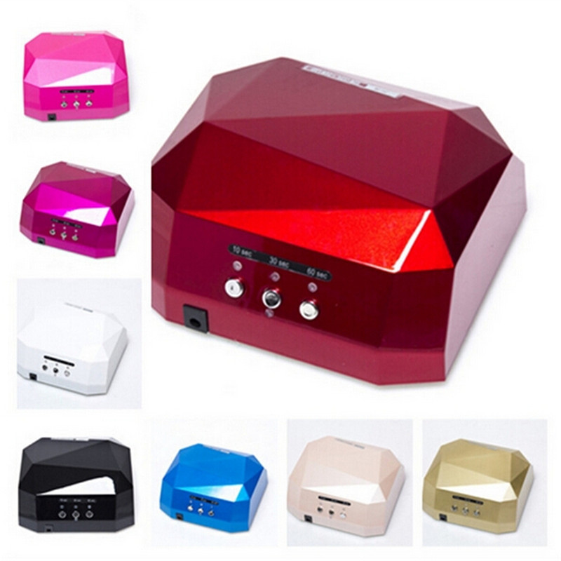 On Sale 36W Nail Dryer Red Diamond Shape LED UV CCFL Light Gel Curing Lamps 2016 New Popular Drying Gel Polish Nail Tools(China (Mainland))