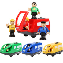 Buy Fashion Cute Kids Toys Electronic Magnetic Train Wooden Tomas Railway Track Set Best Children Birthday Gift Vehicle Toys for $10.44 in AliExpress store