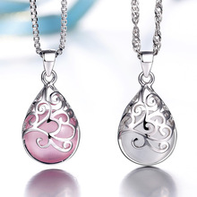 Silver plated pendants female models love the Trevi Fountain Moonlight Opal Fashion jewelry high quality jewelery(China (Mainland))