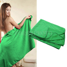1pc New Absorbent Fiber Beach Drying Bath Towels Cleaning Washcloth Shower Sheet(China (Mainland))