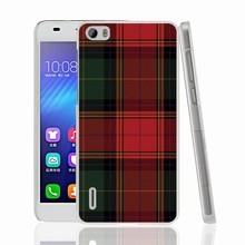 07287 RED BLUE TARTAN SCARF FASHION Cover phone Case for sony xperia z2 z3 z4 z5 mini plus aqua M4 M5 E4 E5 C4 C5