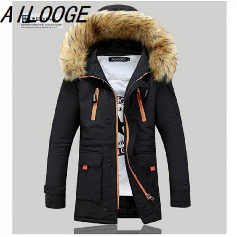 Free shipping 2016 fashion men's down jacket to keep warm in the winter long men down coat jacket(China (Mainland))